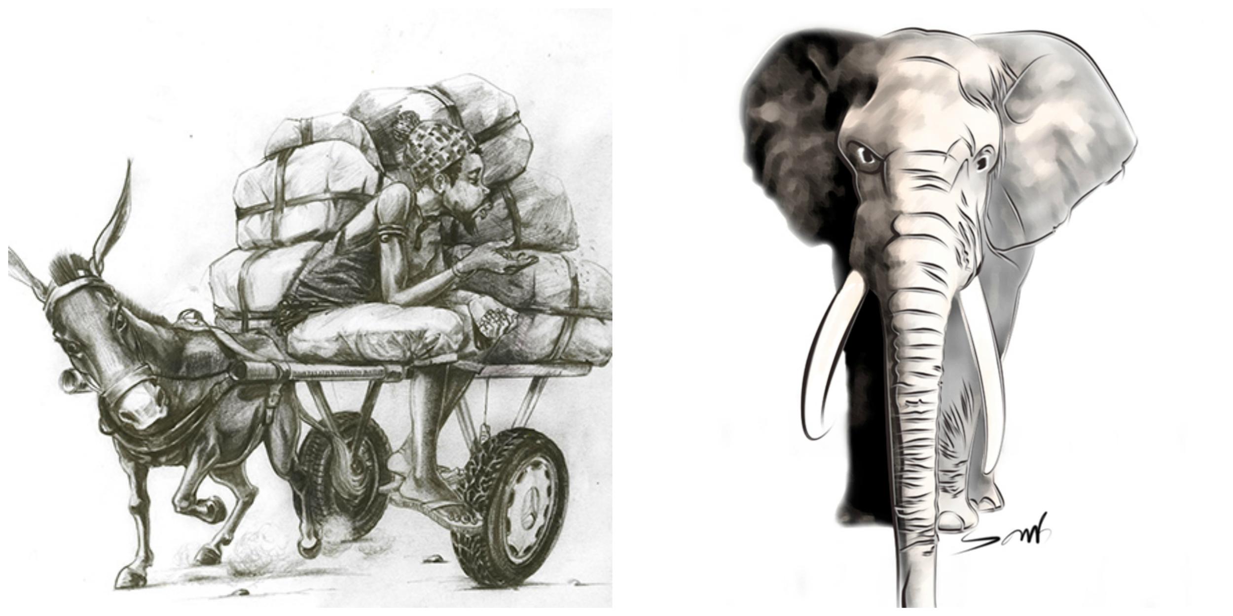 Diaye Guerté (Vendeur d'arachides, Peanut seller) - Laye   Éléphant - Ismaël