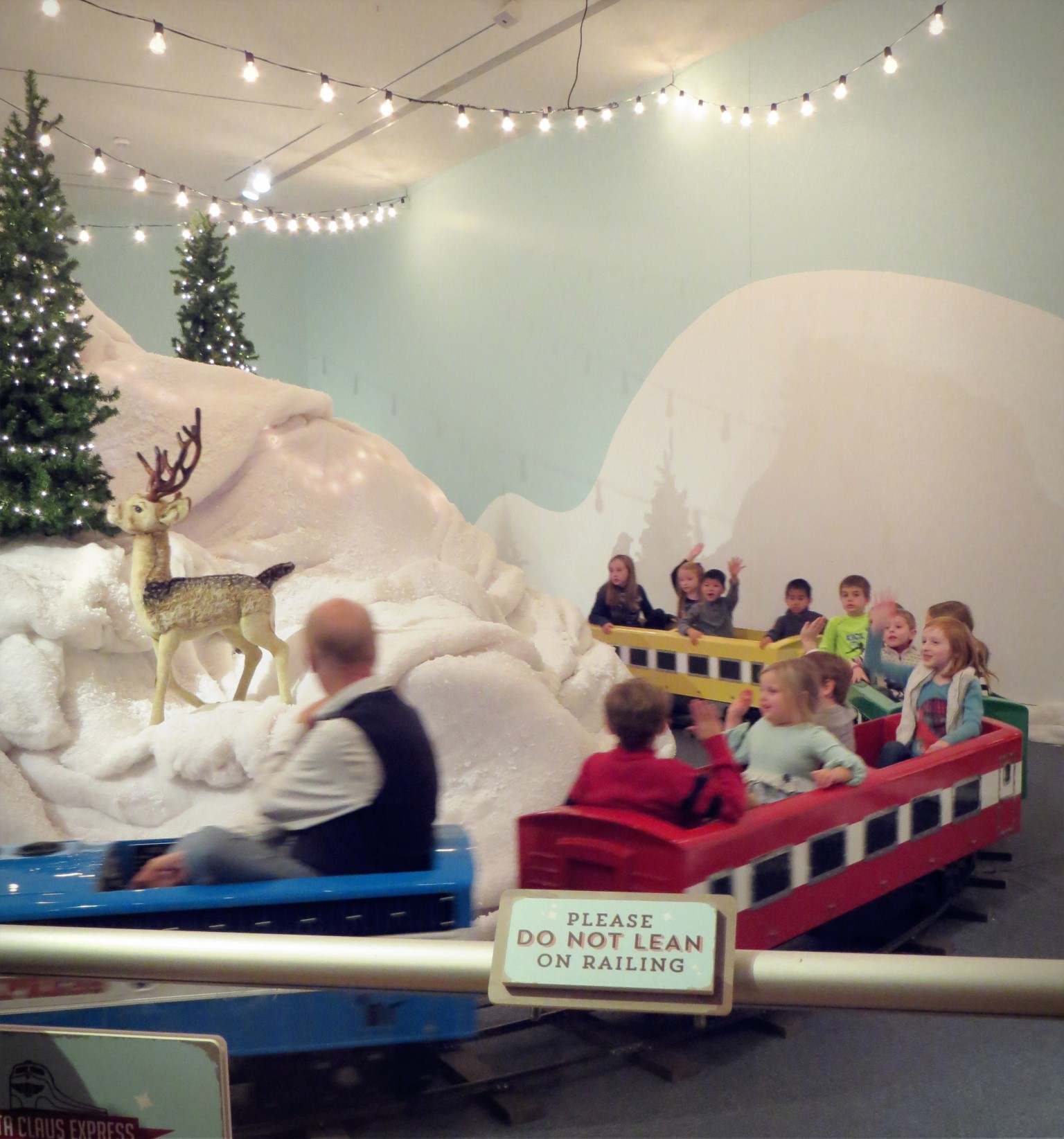 All aboard the Santa Claus Express at the Indiana State Museum!