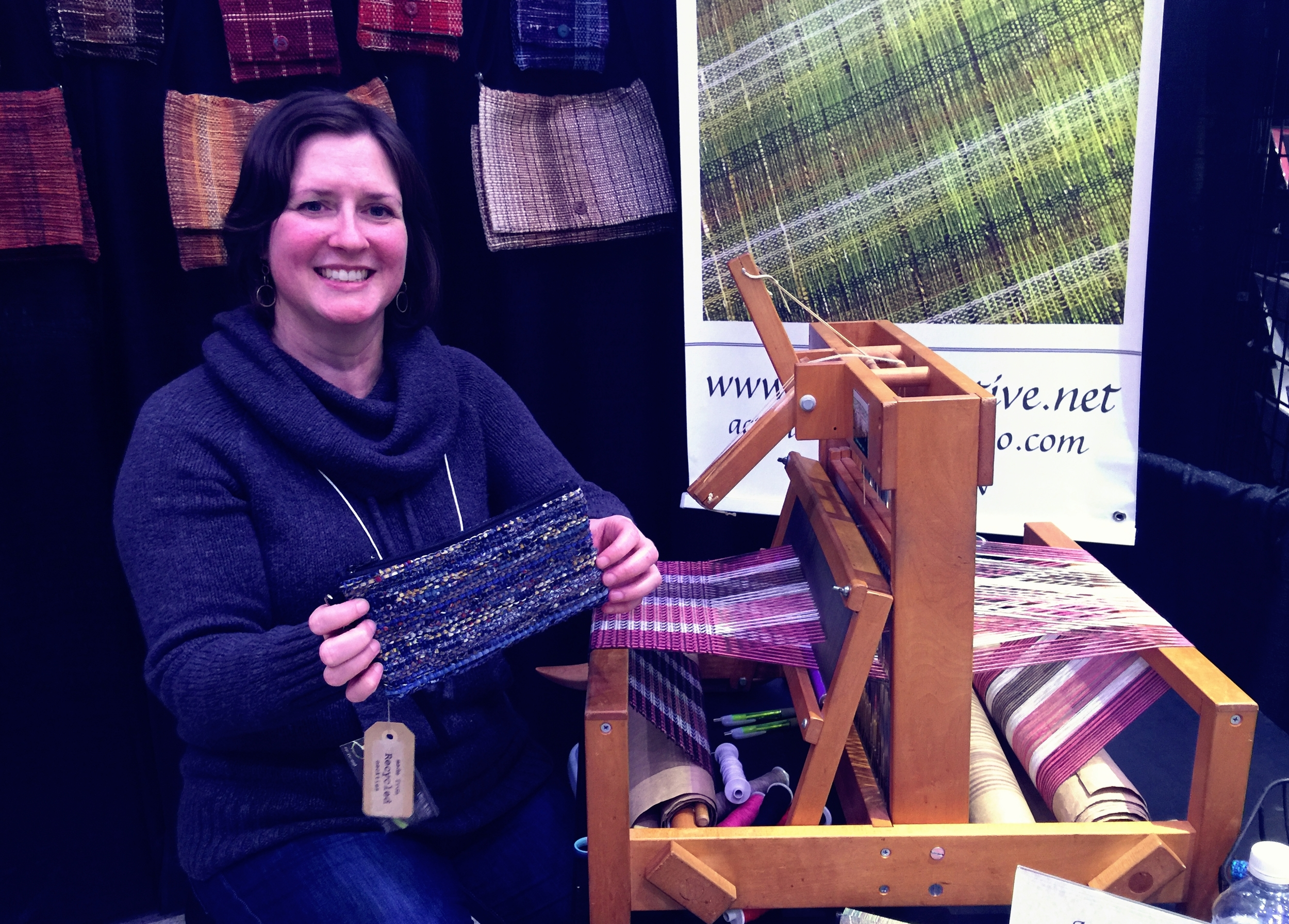 This Porter County artist weaves beautiful bags and clutches from recycled neckties.