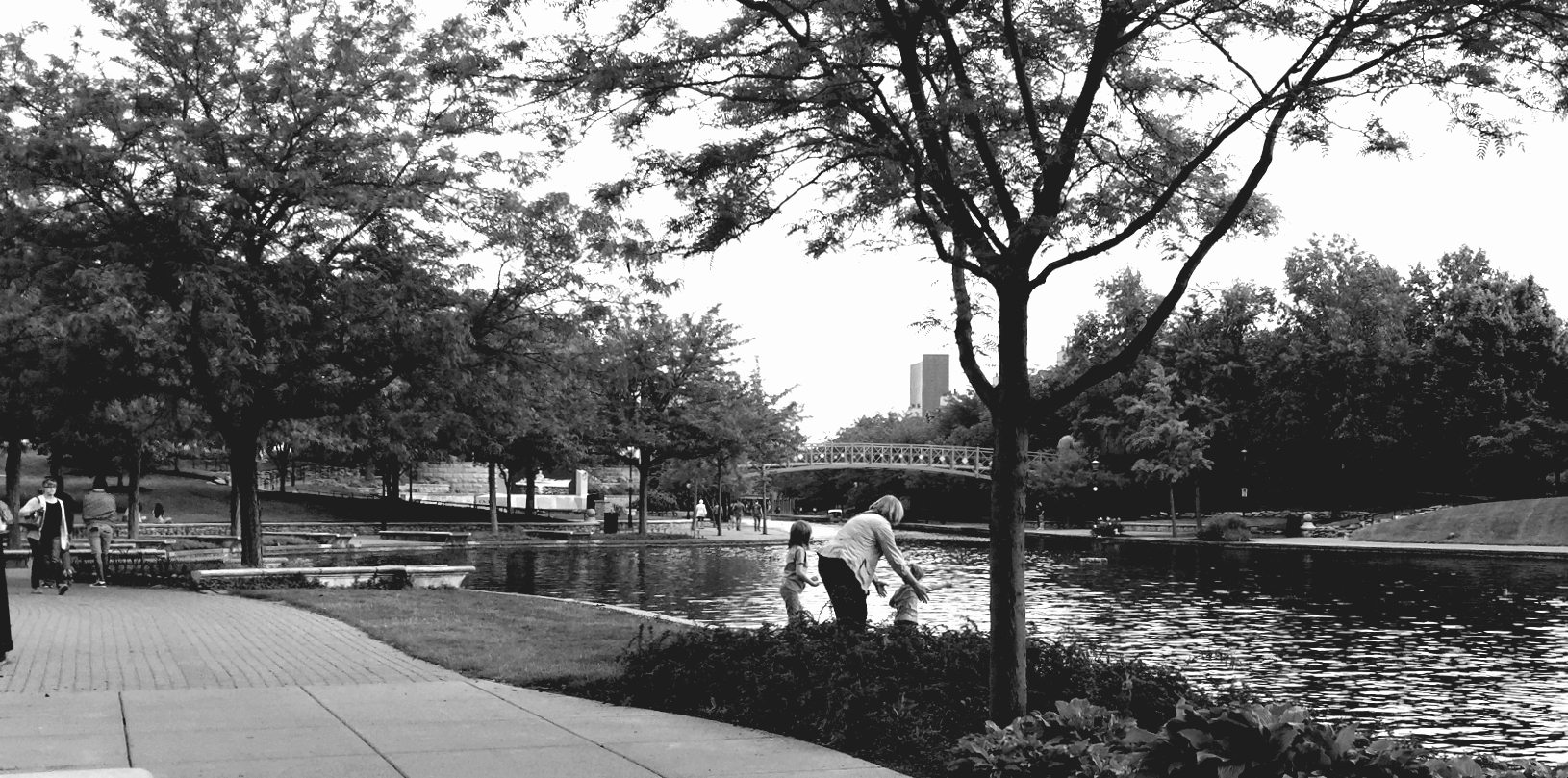The downtown Indianapolis Canal Walk is a great place for feeding ducks, as well as paddle boating, kayaking, gondola rides, running, walking and biking.