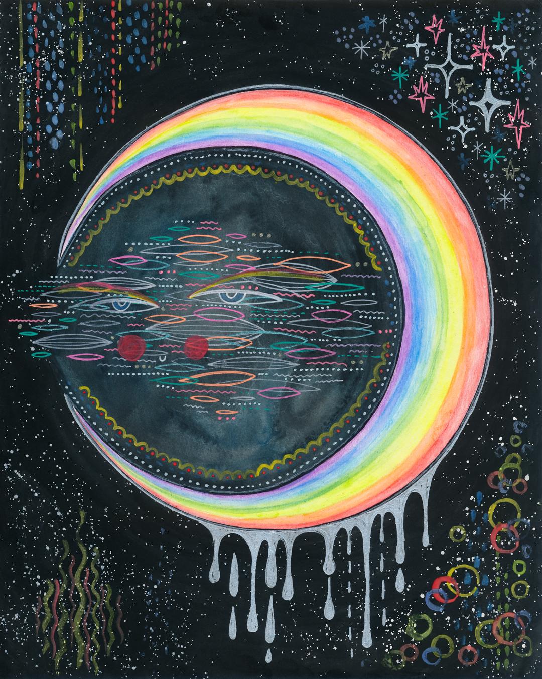 Rainbow moon, 2018.
