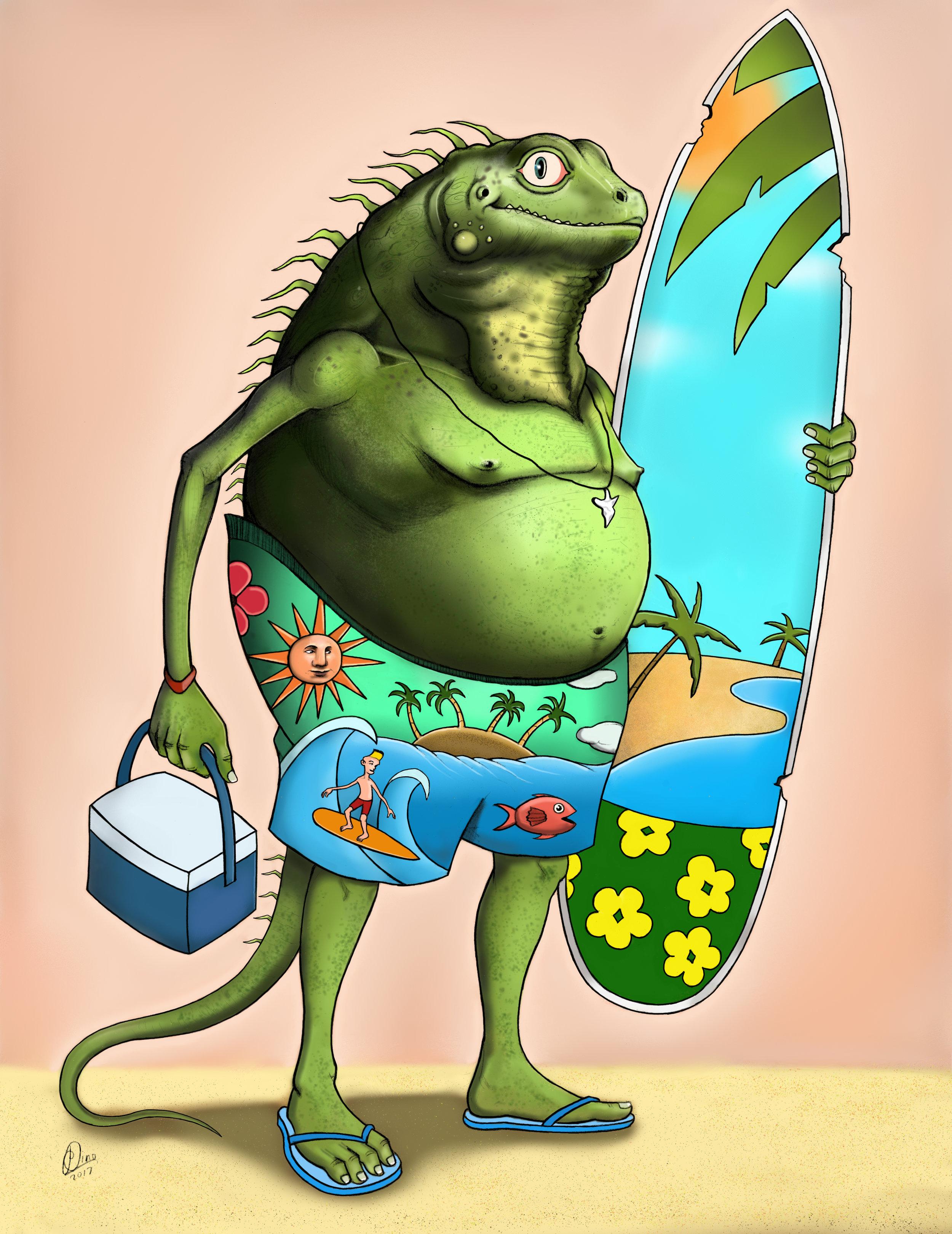 Iguana Surfer