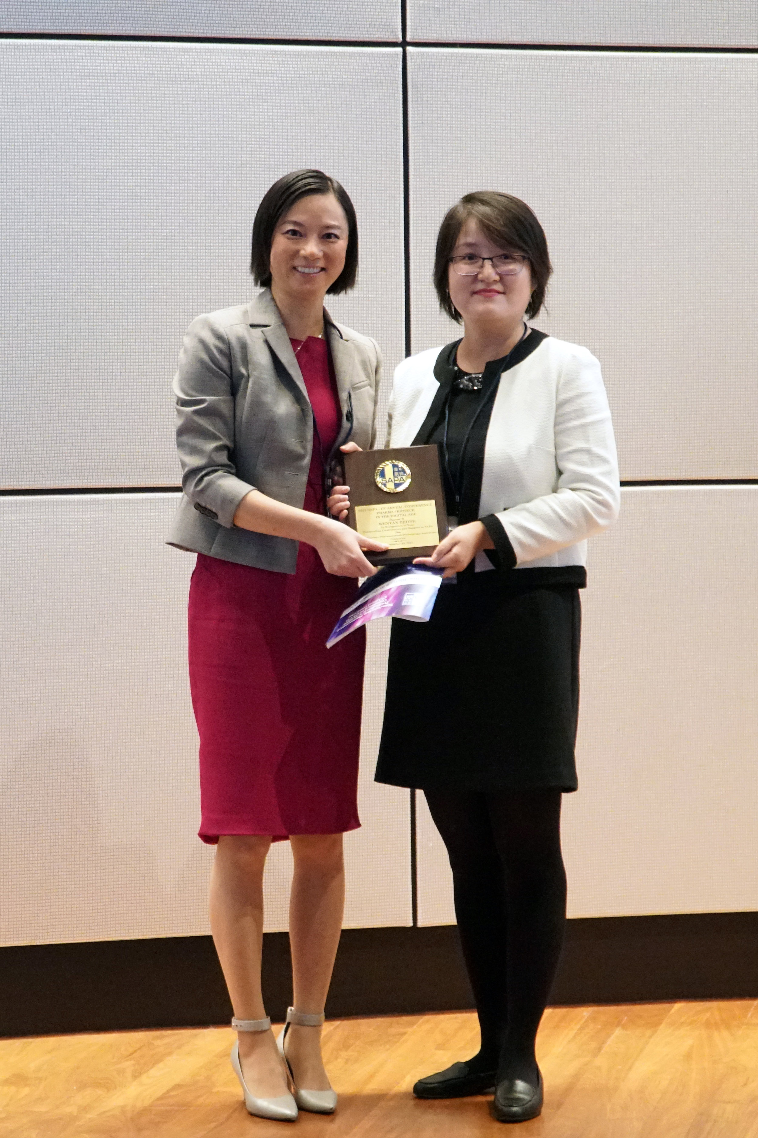 Dr. Jin Zhou with Mrs. Wenyan Zhong, MS, Science and Technology Counselor, Chinese Consulate-General in New York