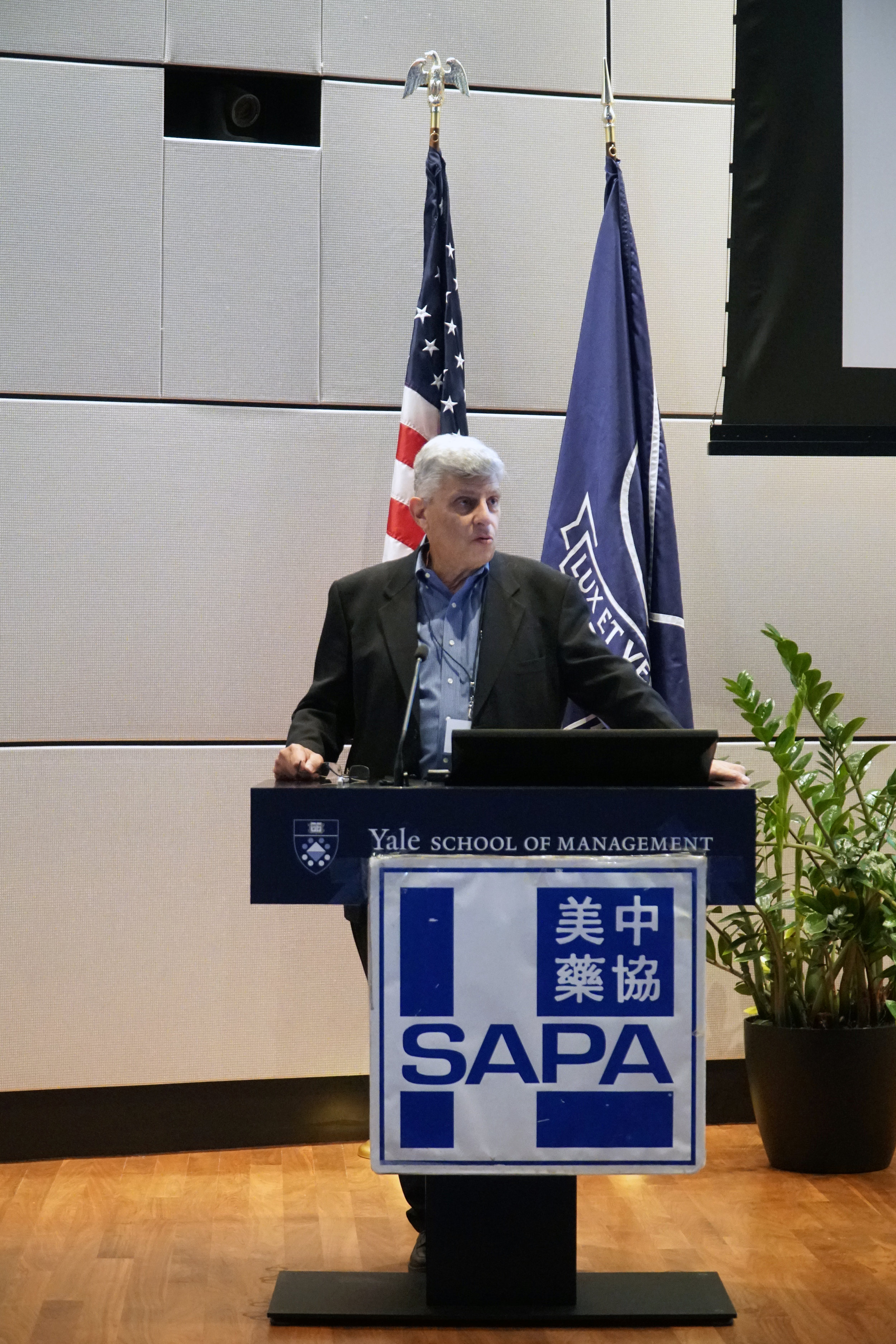 Peter Farina, PhD, Executive in Residence, Canaan Partners, gave an opening speech on the conference.