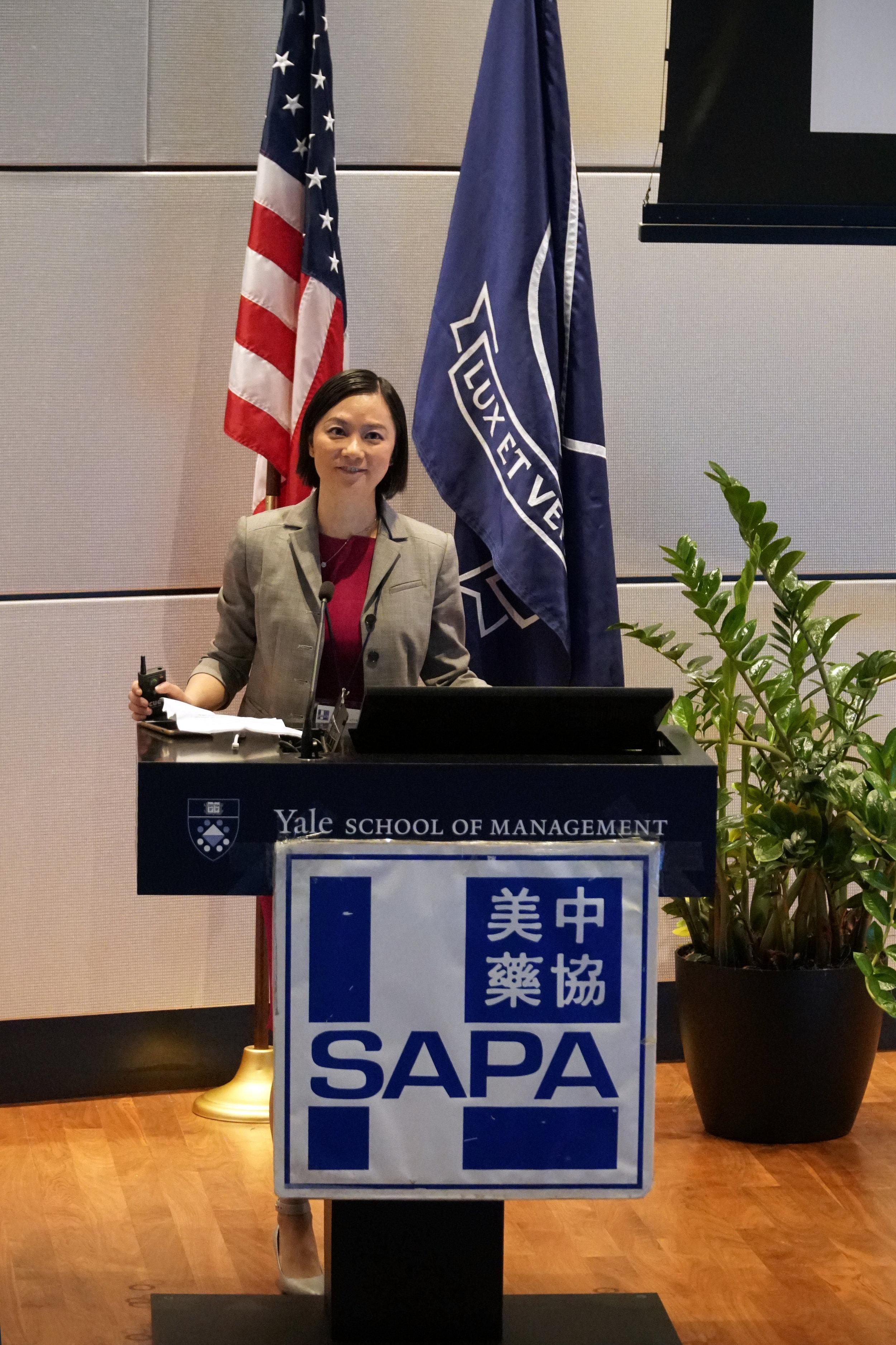 Jin Zhou, PhD, 2017 SAPA-CT President, introduced SAPA-CT to attendants.