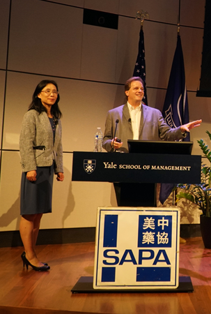 Hong Sun, Associate Director, Data analytics, Bayer and Dr. Alan Labouseur, PhD, Professor, Marist College, gave a talk the annual conference