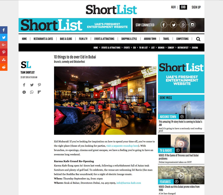 Short List Dubai