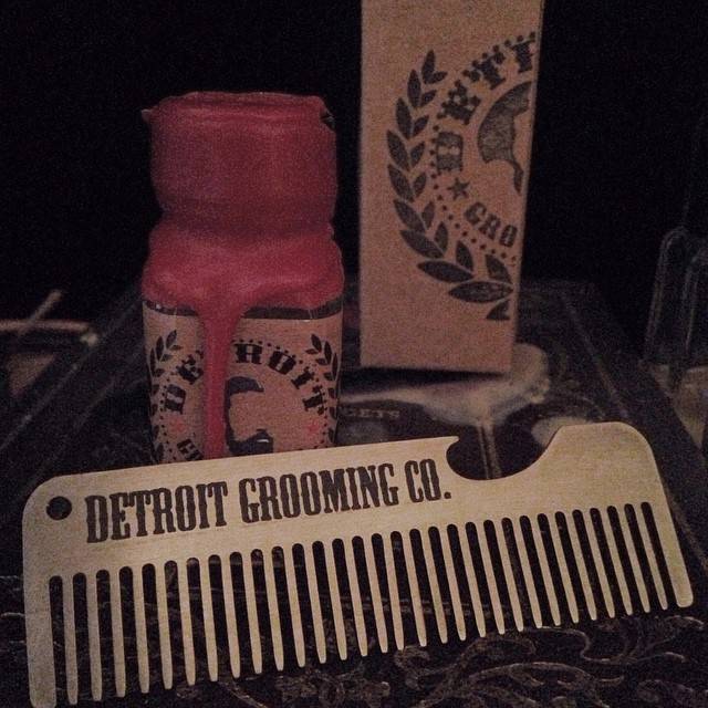 "The ""Corktown"" beard oil from @detroitgrooming smells so freakin' good. And c'mon, how cool is it that the comb is a bottle opener? #grooming #detroit #madeinusa"