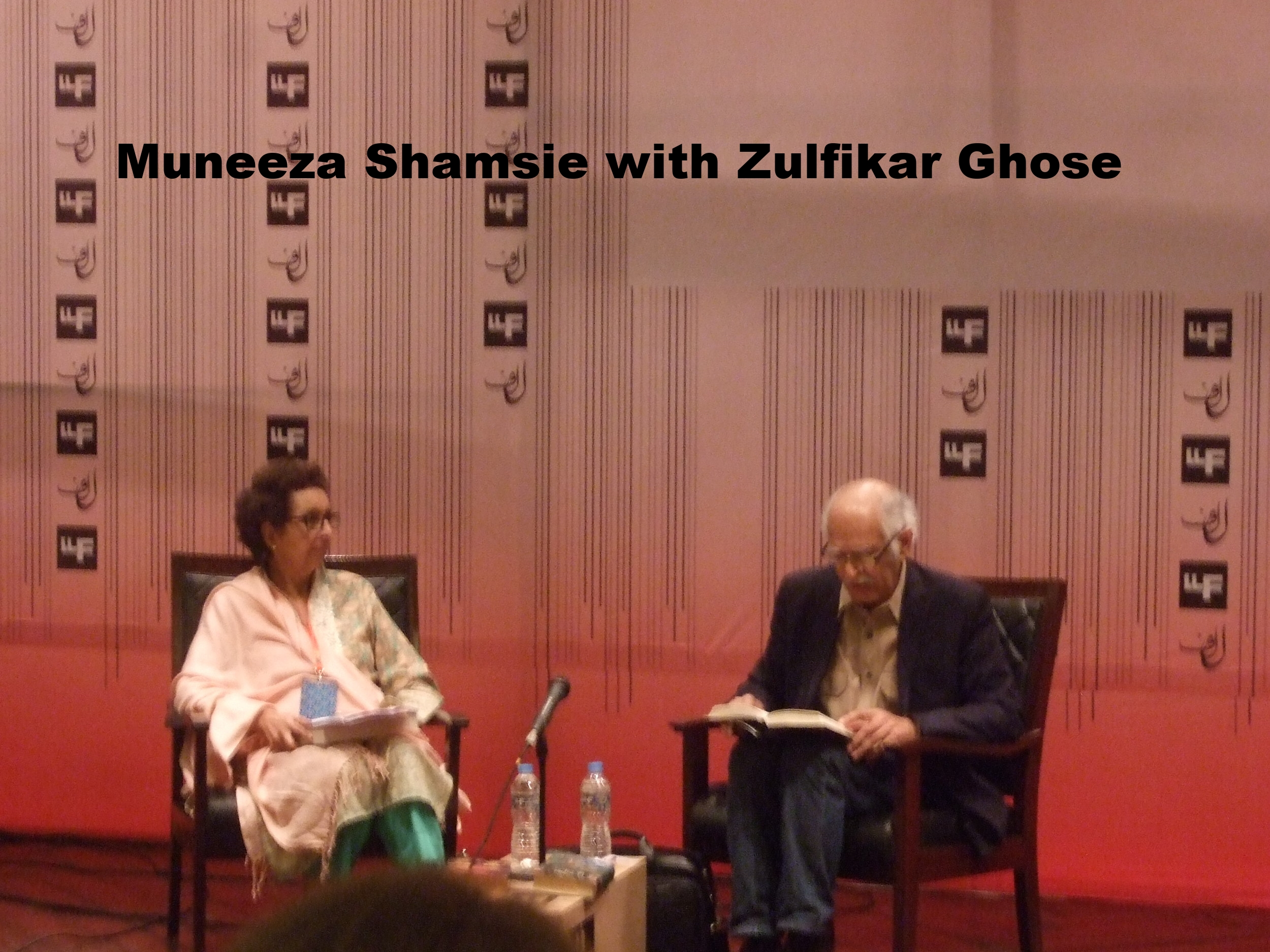 Zulfikar Ghose with Muneeza Shamsie