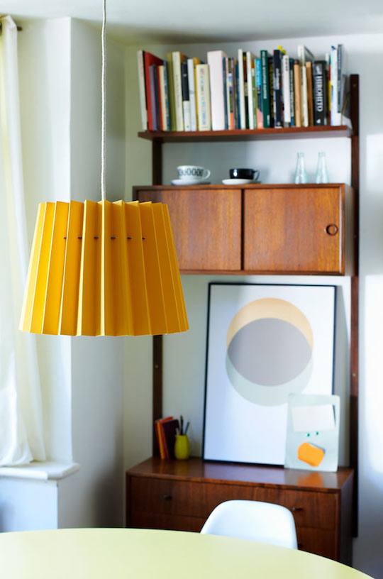 Twin Tone Lampshade – Warm Yellow and China White