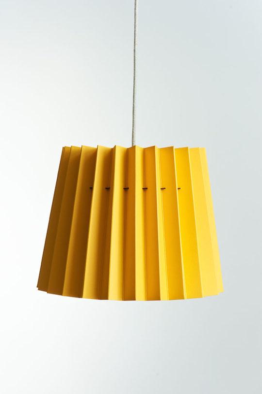 Twin Tone Lampshade - Warm Yellow