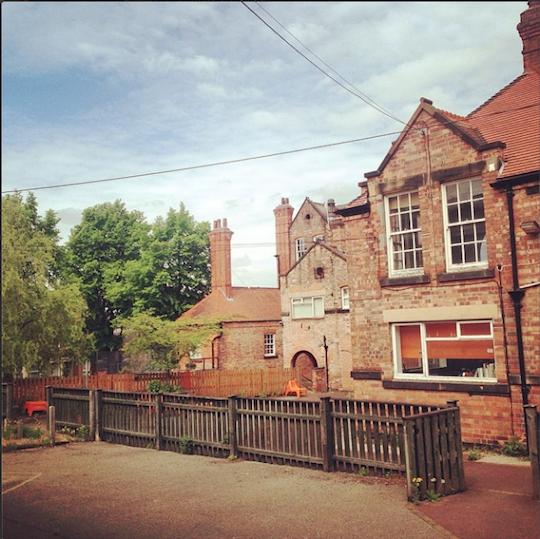 Primary Studios in the Spring sun