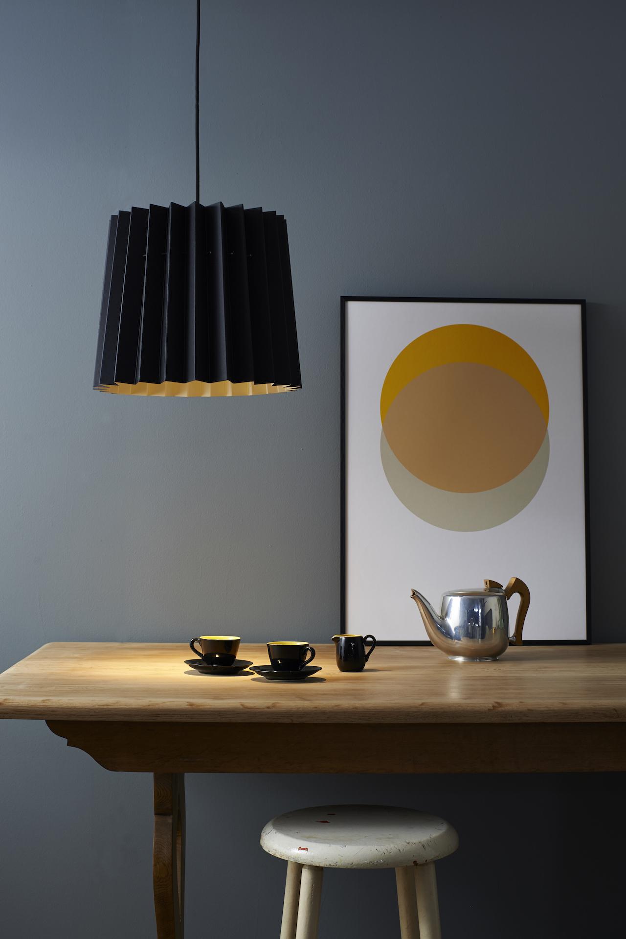 Black and China White Lampshade and Circles Yellow and Grey SFW 150.jpg