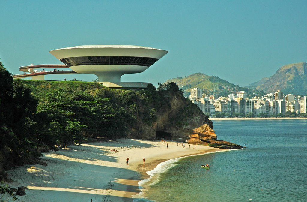 Niterói Contemporary Art Museum, 1996 (designed and built when he was 89!)  Image credit:  World Travel Server .