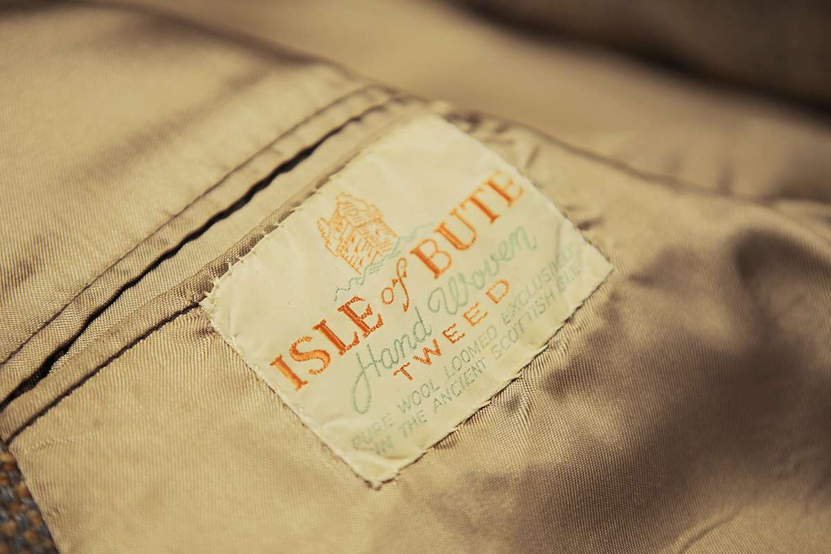 Original tweed label at Bute Fabrics. Image courtesy of  Make  Works .