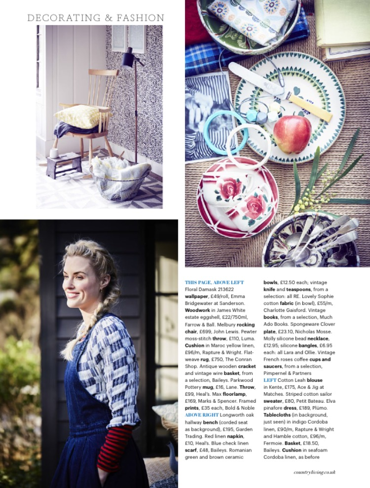 Country Living, April 2016, Lane & Parkwood Pottery Stoneware Mug - Speckled White