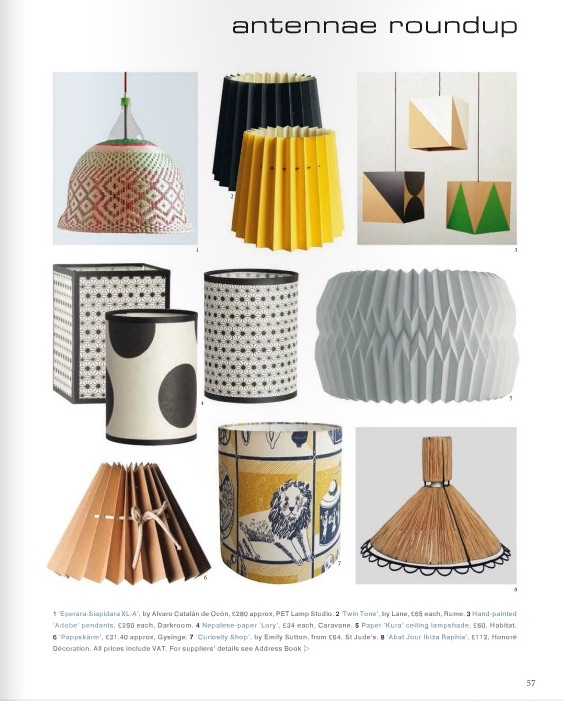 World of Interiors, March 2016,  Lane Twin Tone Lampshades
