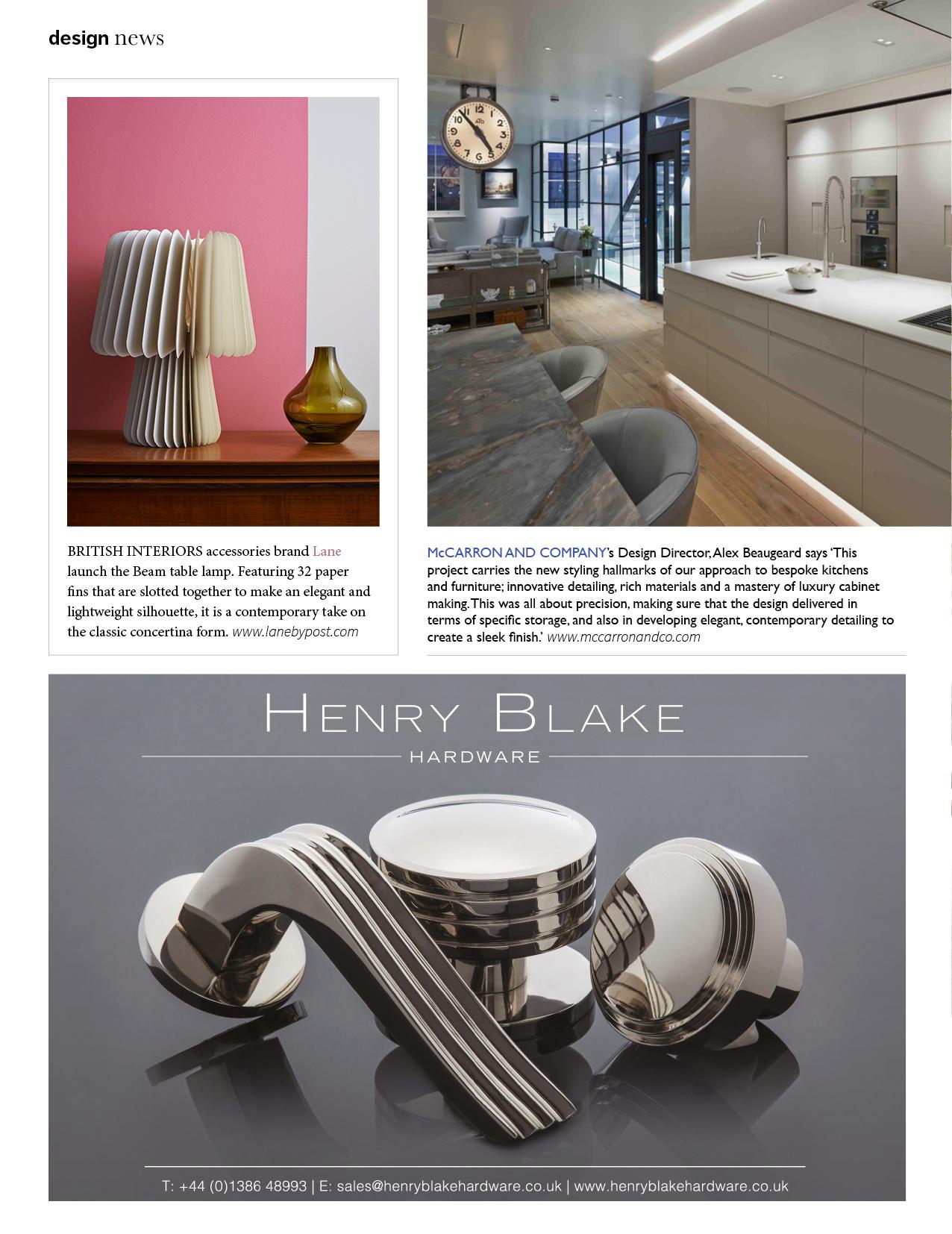 Bridge For Design, December 2015,  Beam Table Lamp - Pale Grey