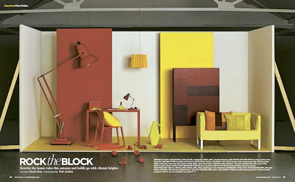 You Magazine, September 2014, Twin Tone Lampshade - Warm Yellow & China White