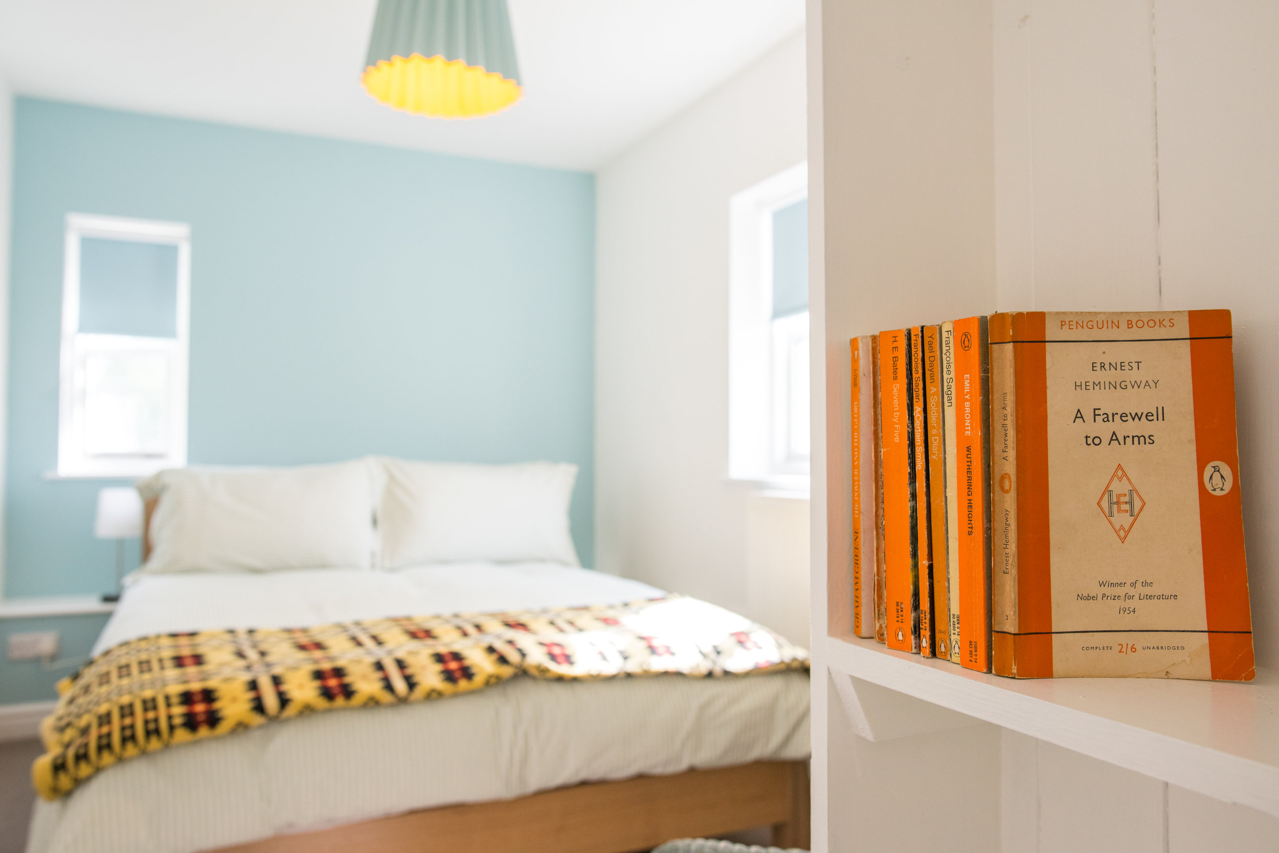 Lane Twin Tone Lampshade at Wright's Food Emporium self-catering cottage, Wales