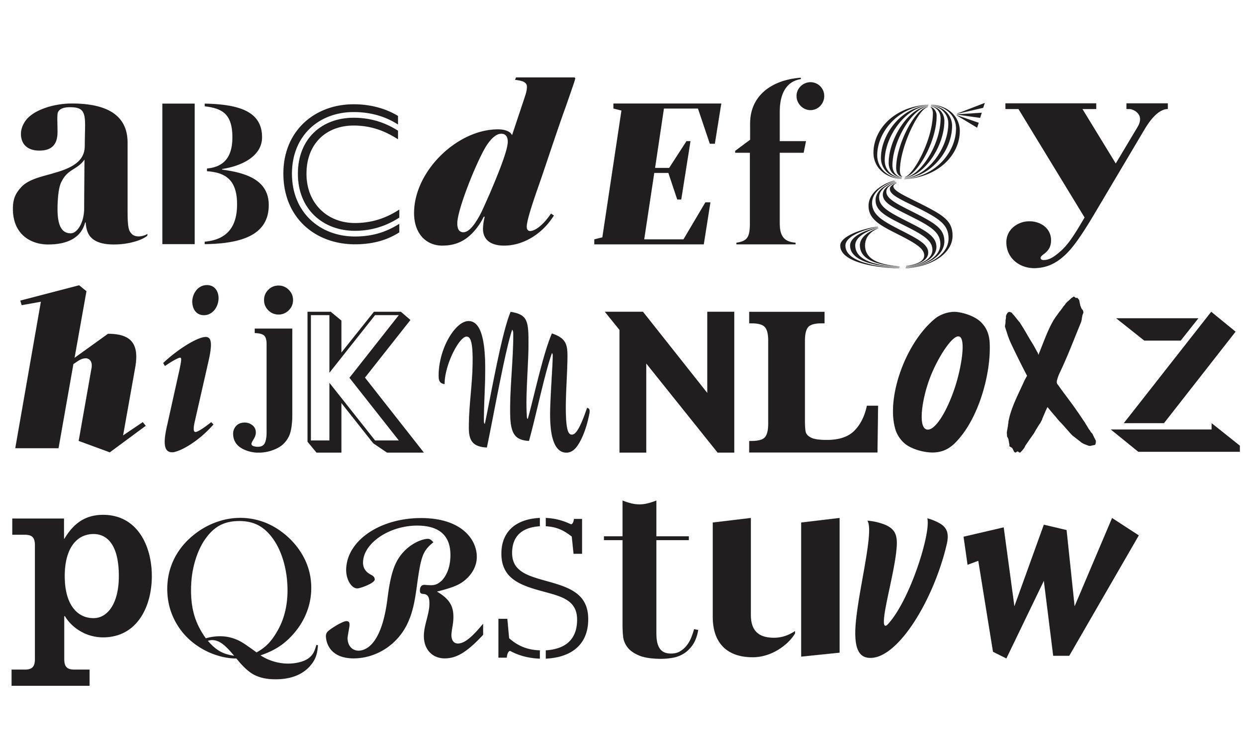 Lane Letterpress Alphabet