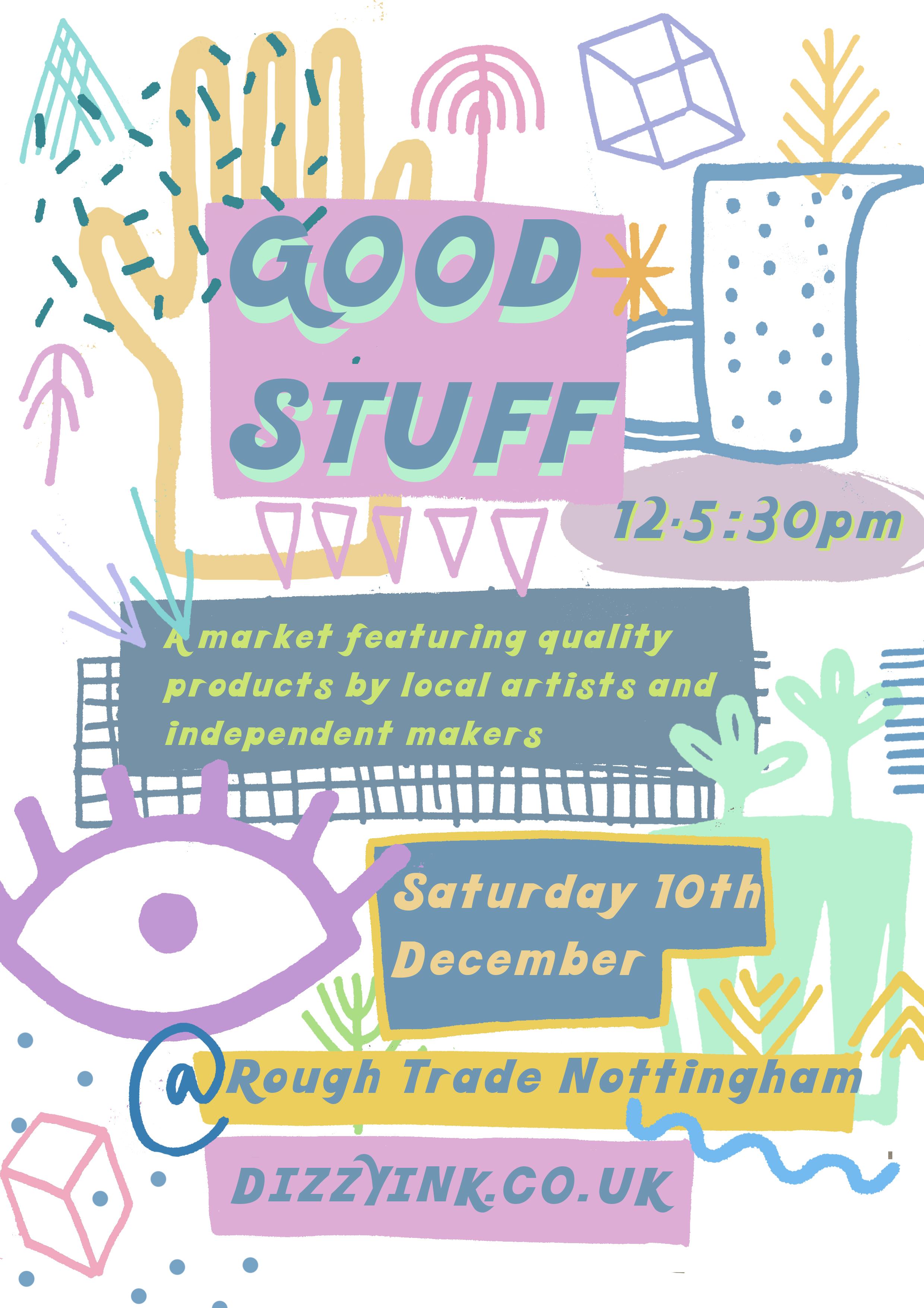 Lane exhibit at Good Stuff Market at Rough Trade Nottingham