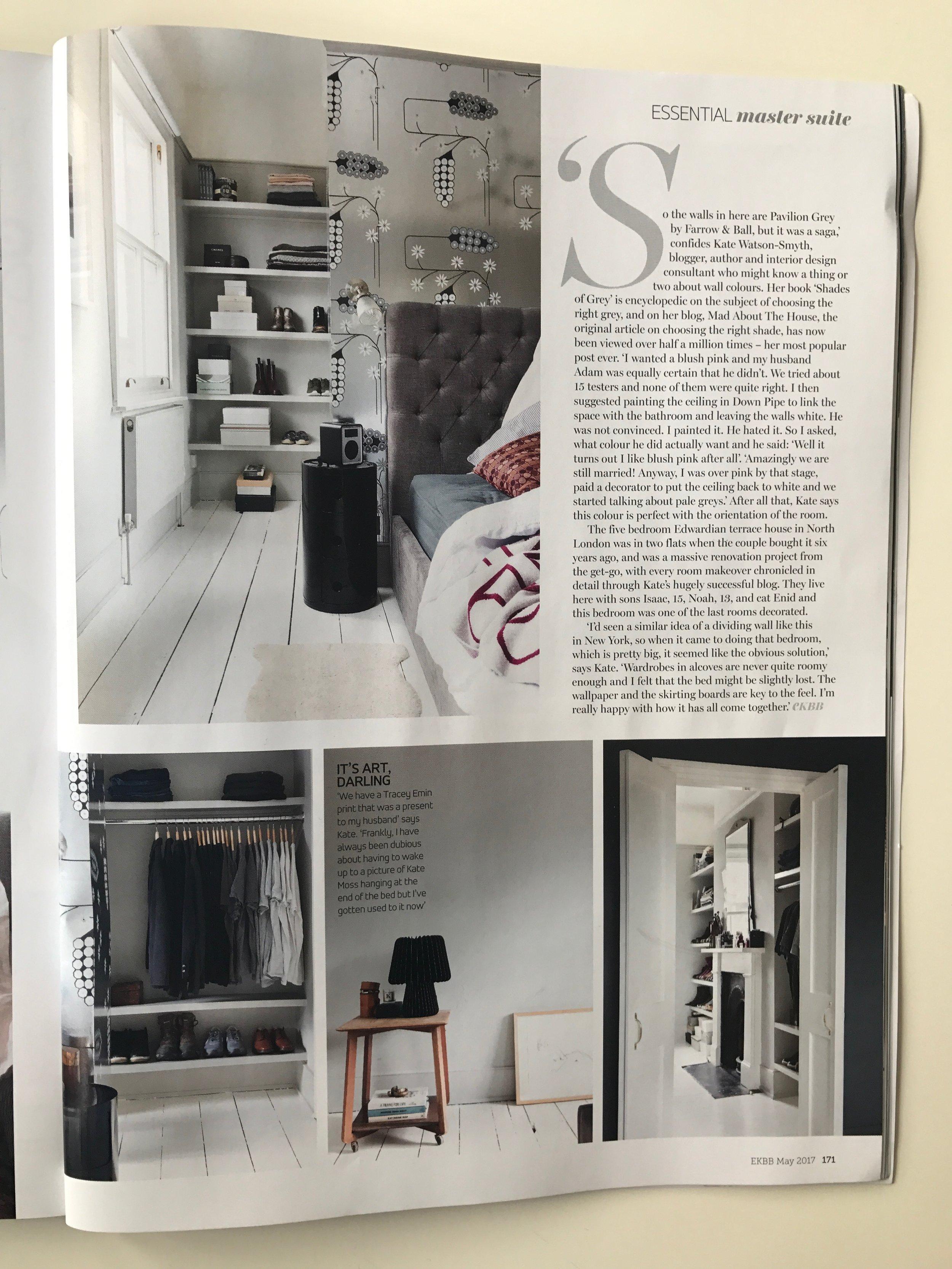 EKBB Magazine - Kate Watson Smyth's House Tour, May 2017,  Black Beam Table Lamp