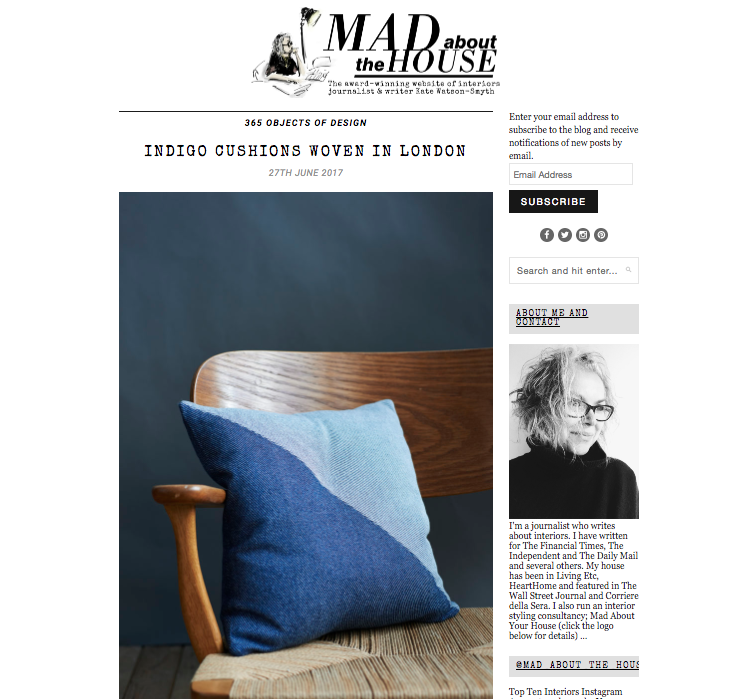 Mad About The House, Lane x London Cloth Collection, June 2017