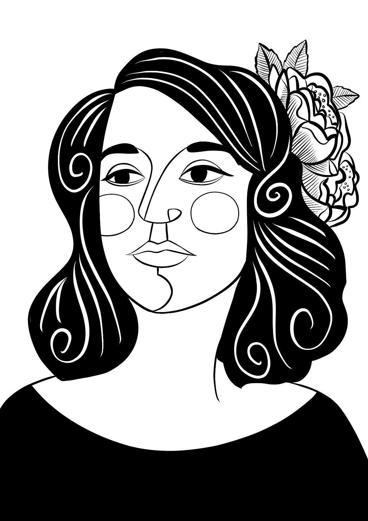 Amy Blackwell's portrait of Marisol Escobar