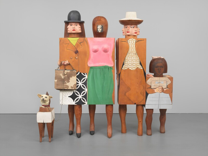 'Women and Dog', Marisol Escobar, 1963-4. Credit to  Whitney Museum of American Art, New York .