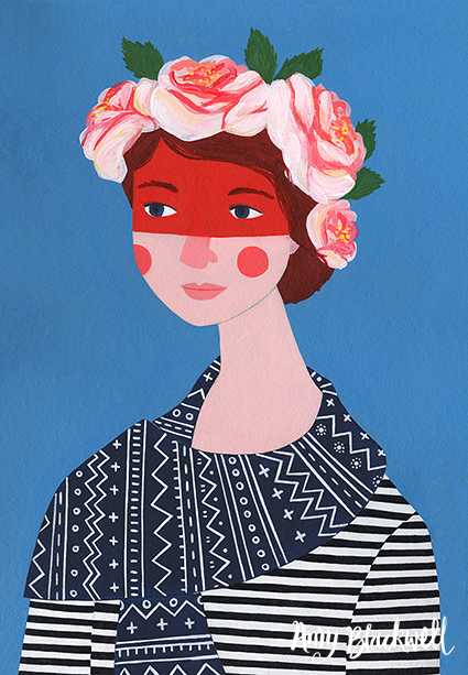 One of Amy Blackwell's portraits from  her website .