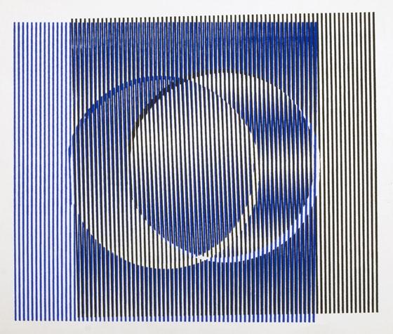 """Induction Chromatique: 1960 - 1969: 'Induction du Jaune', Carlos Cruz-Diez. Paris, France, 1963.Silkscreen on paper, 23 x 23 cm (9 x 9""""). Credit: © Atelier Cruz-Diez Paris ."""