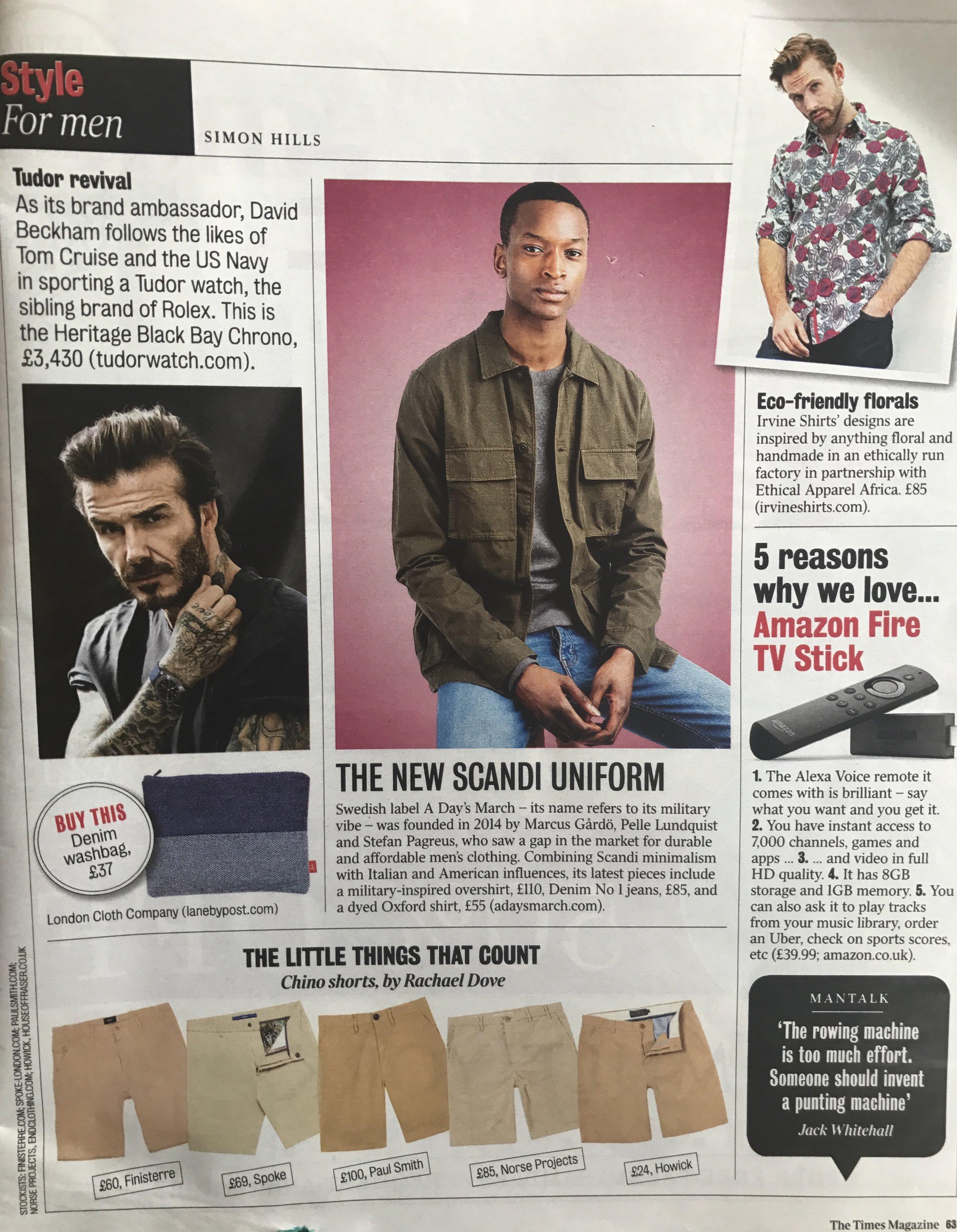 The Times Magazine, Indigo Cotton Wash Bag, August 2017