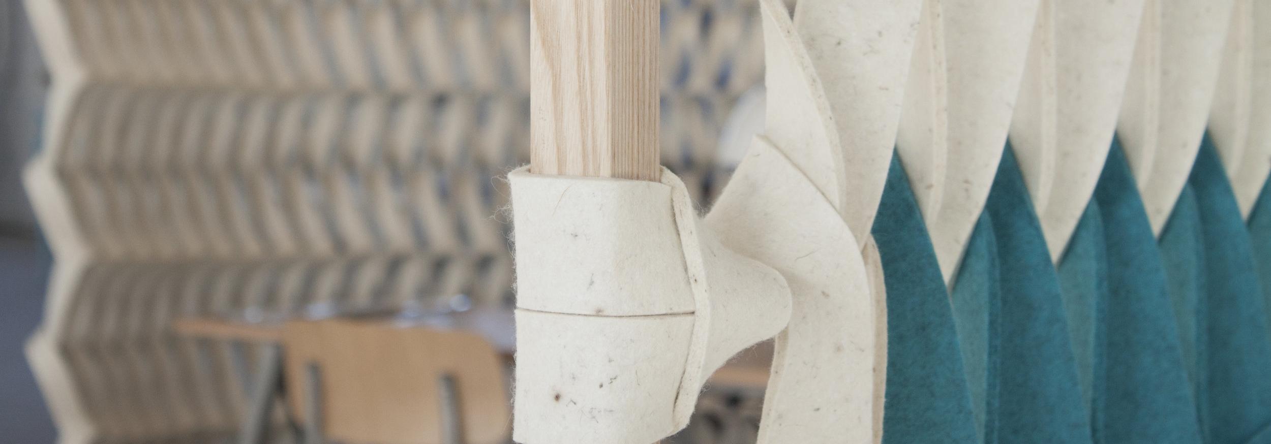 StudioPetraVonk PLECTERE acoustic improving textile design detail frame petrol.jpg
