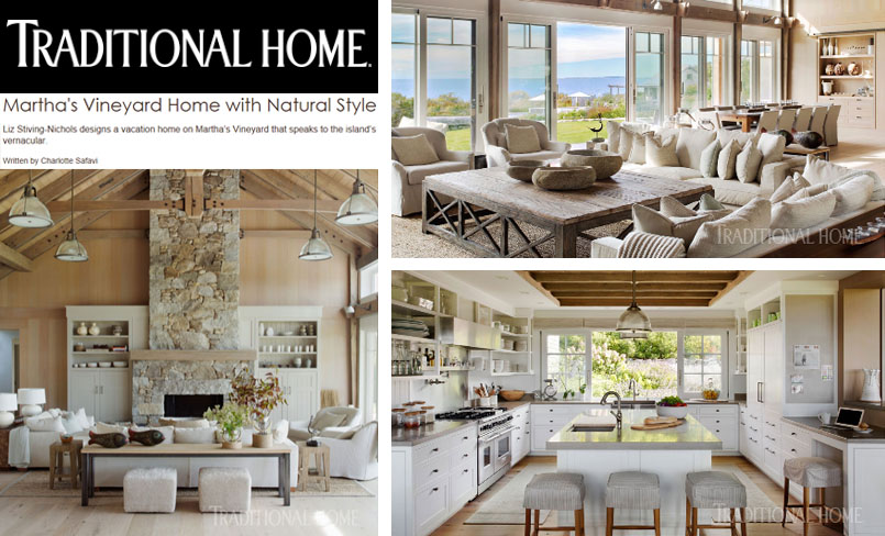 Traditional Home,  Martha's Vineyard Home with Natural Style  by Charlotte Safavi