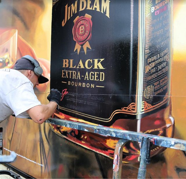 Extra Aged Bourbon @jimbeamofficial #handpainted #signpainting #bourbon