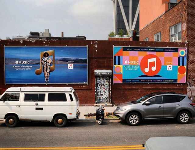 Apple Unlimited Playlist @apple @applemusic #williamsburg #wildposting #streetmedia