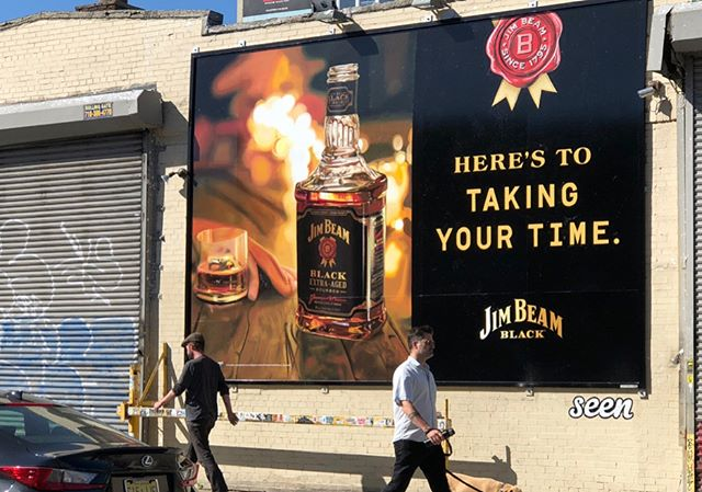 Cheers to Summer Fridays and taking your time with @jimbeamofficial #handpainted #bushwick #alldayeveryday #signpainting #mural