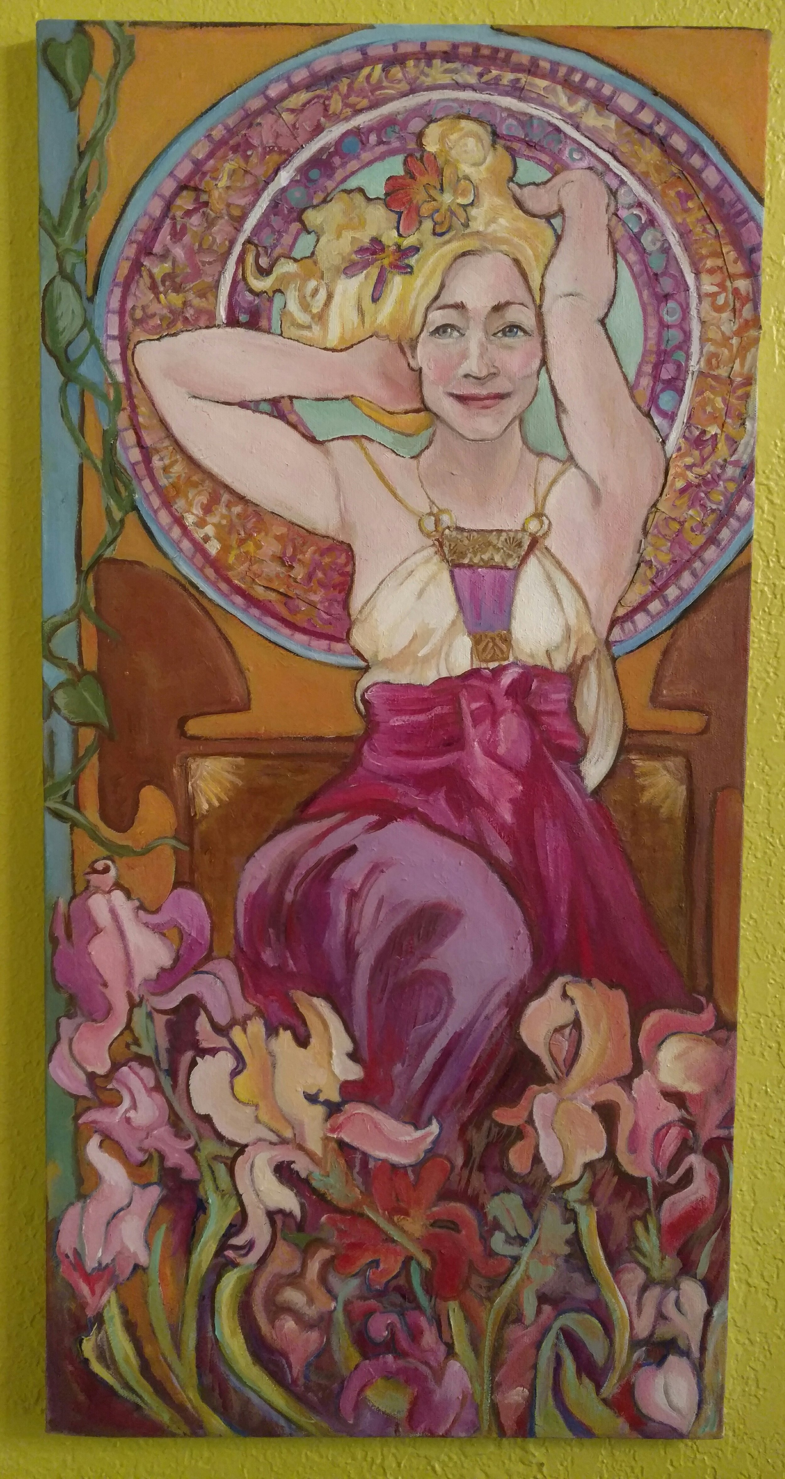 "The anniversary painting. Oil on canvas, 15"" x 30"", by artist Rachel Orman"