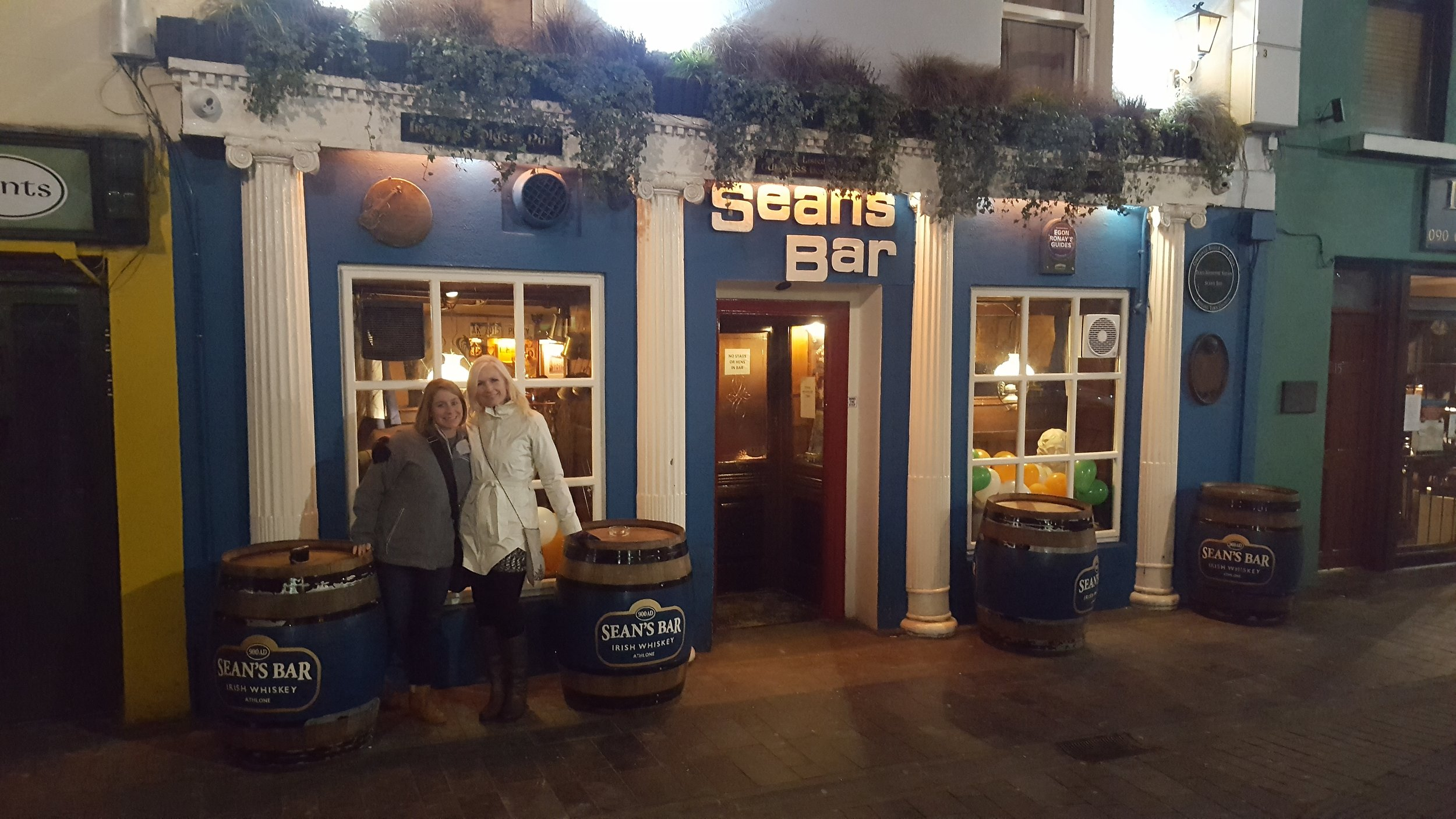Murphy and me at Sean's Bar, Athlone