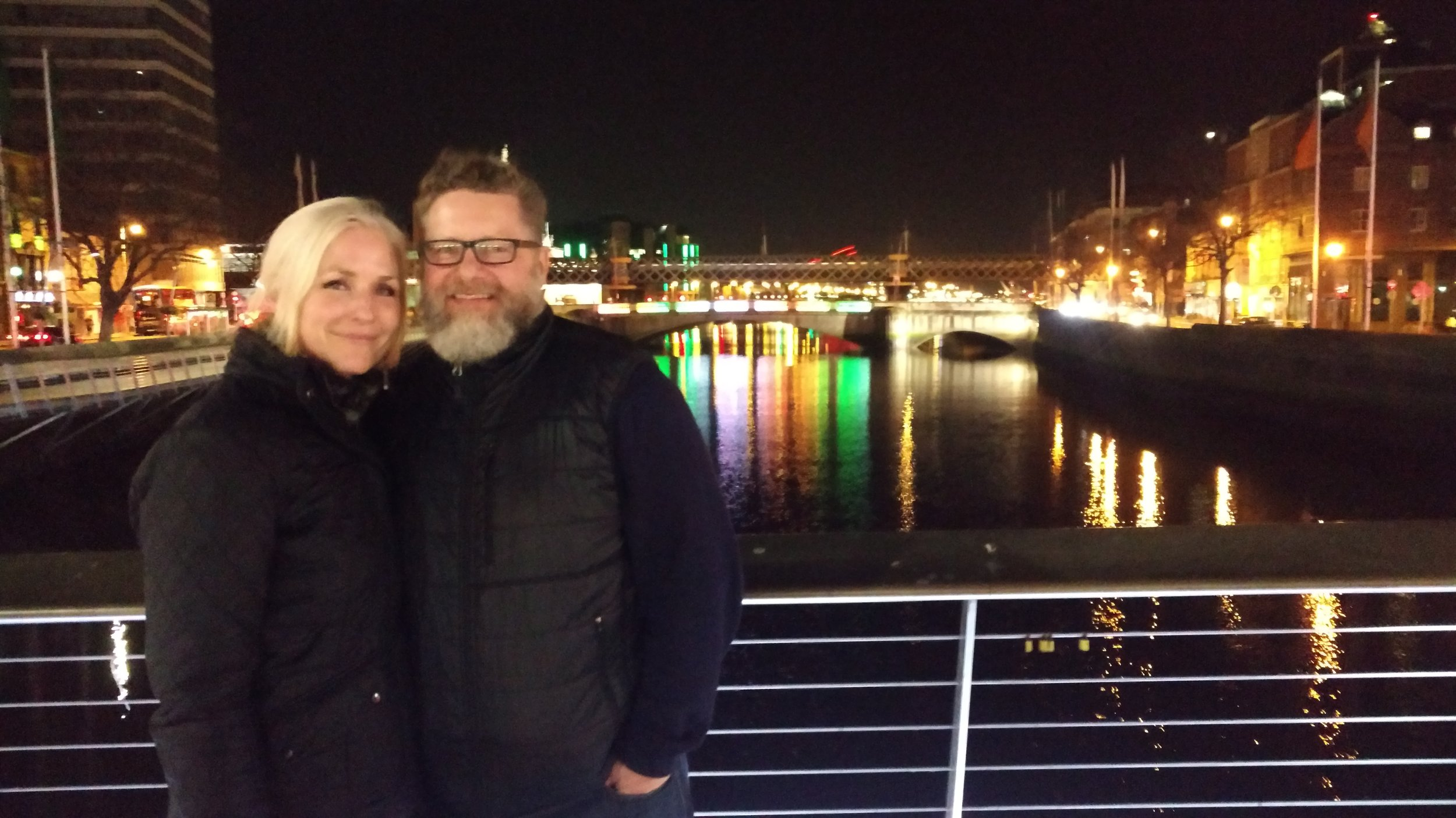 Last night in Ireland, the River Liffey, Dublin
