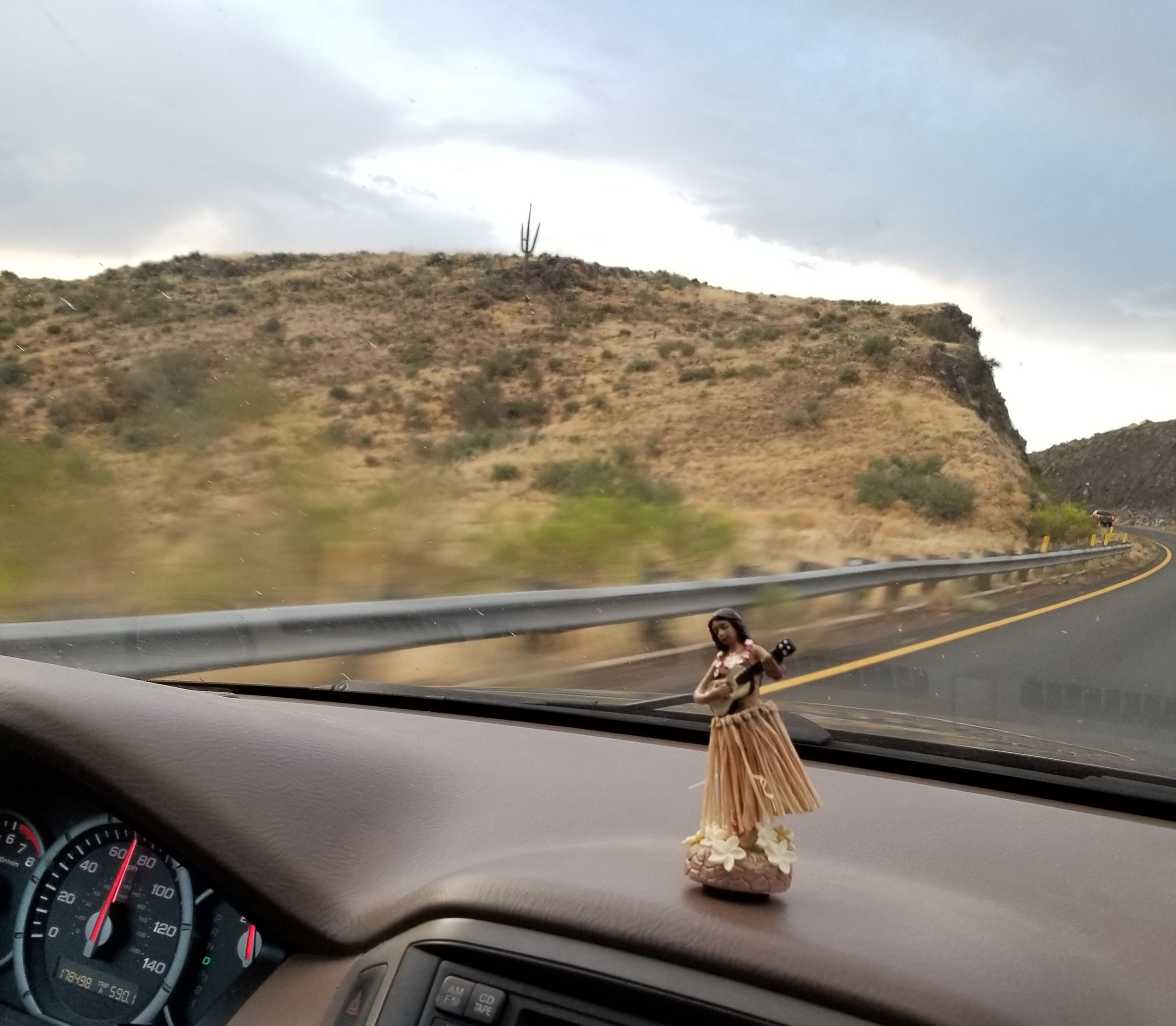 Life on the road with hula lady