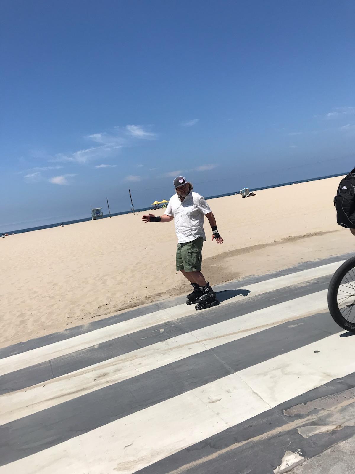 Look at Husband go! (Venice Beach)