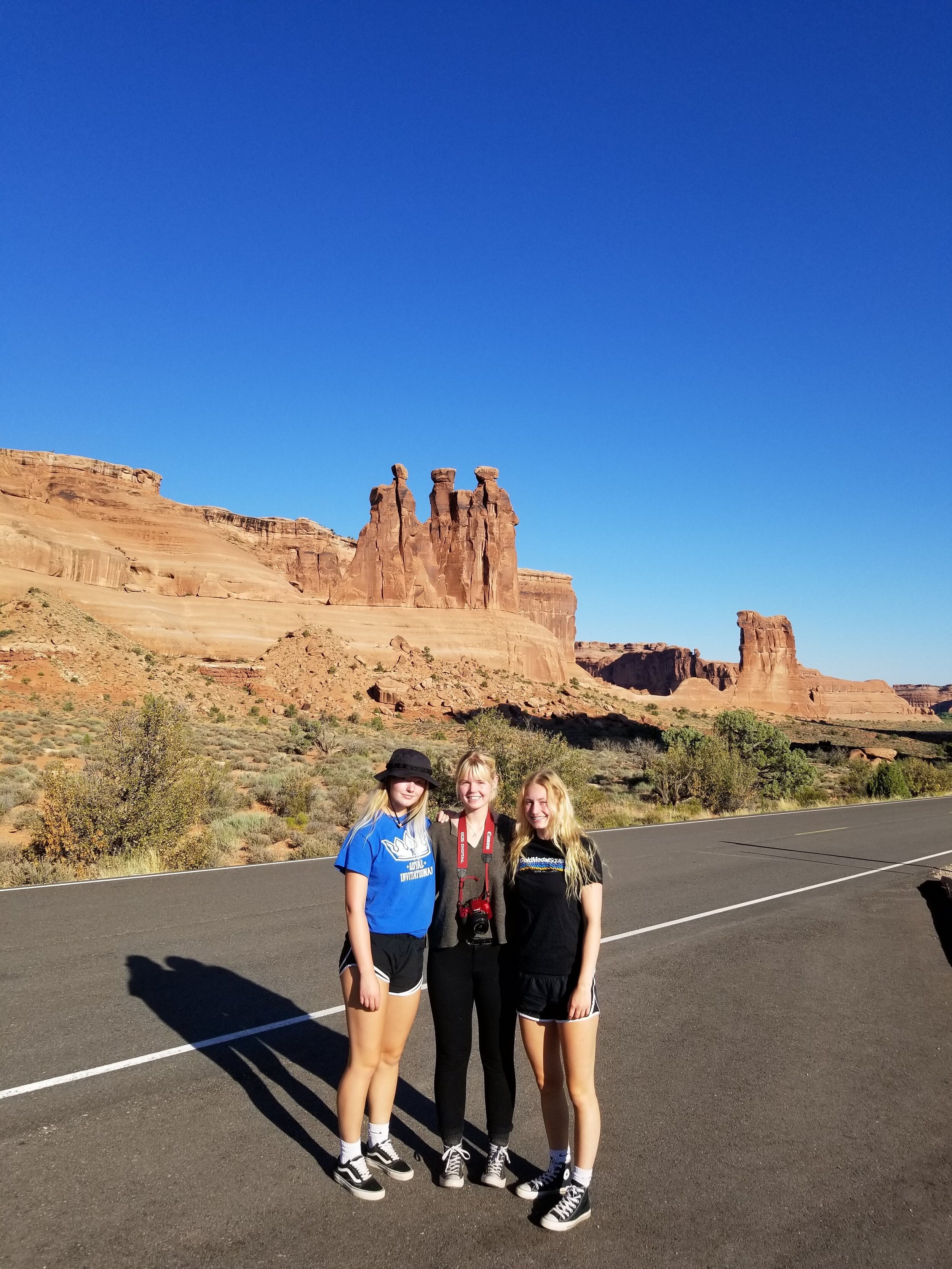 """This stone formation at Arches is called """"The Three Gossips."""""""