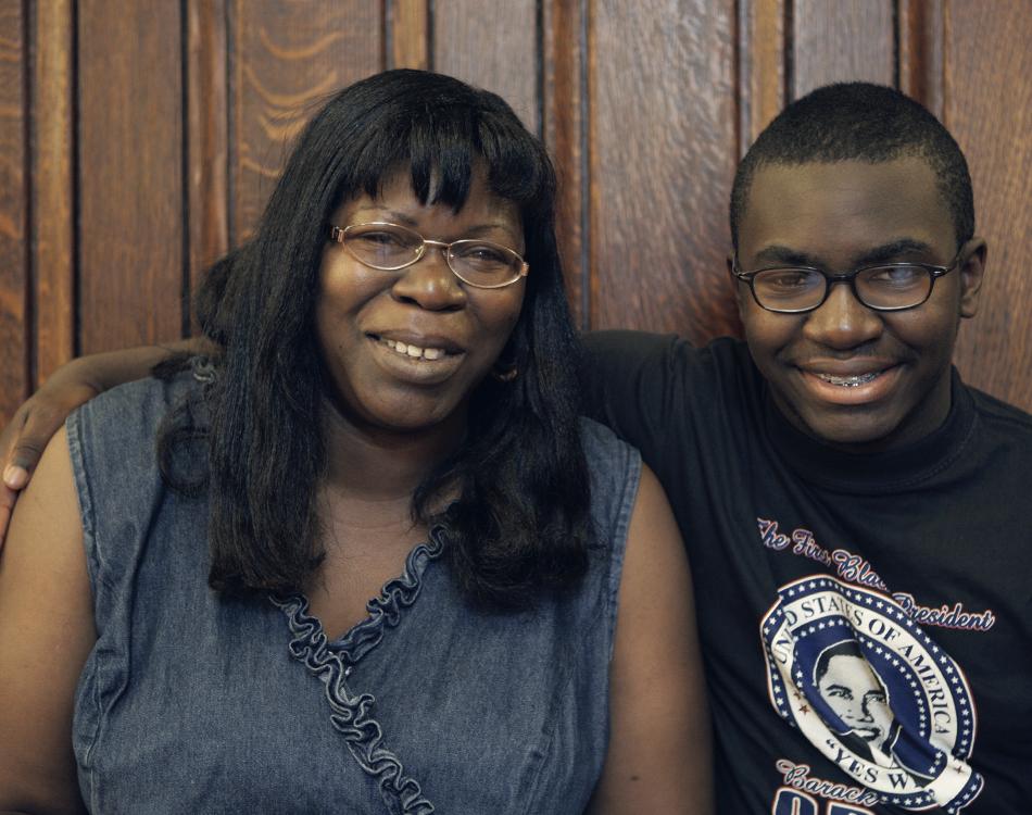 Bernadette and son