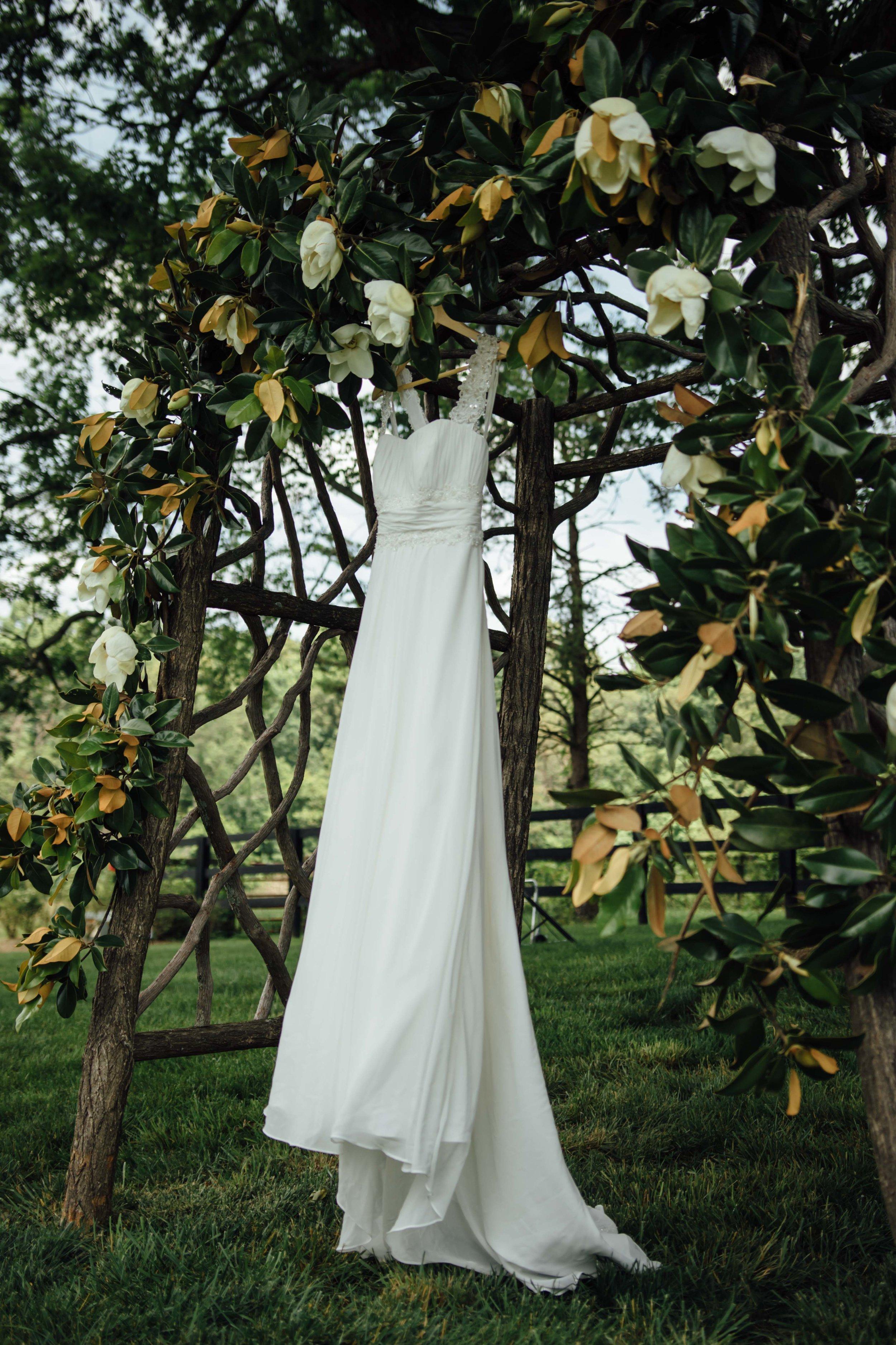 beautiful shot of the wedding dress