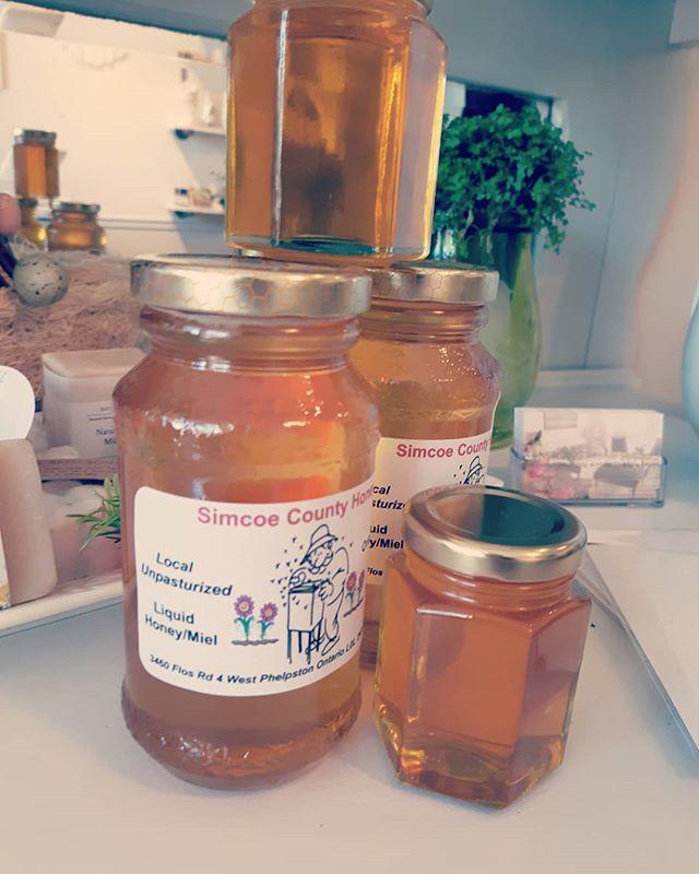 We got Honey !  Locally made & delicious  #torontoflorist #barrieflorist #muskokaflorist #artisans #creativebarrie #shoplocal #smallbusiness #familybusiness