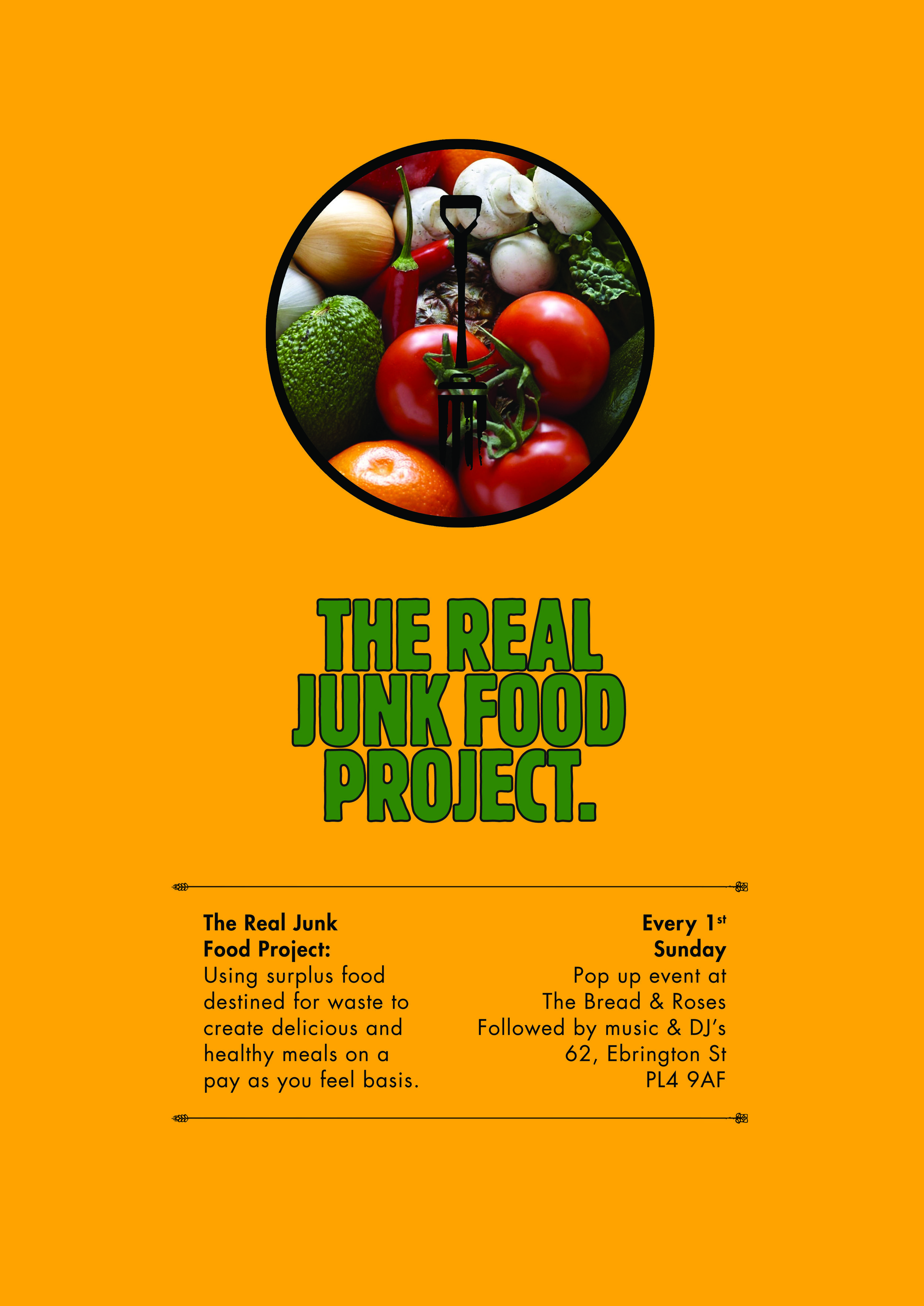 The Real Junk Food Project  -  Sunday, October 1, 20171:00pm – 3:00pm