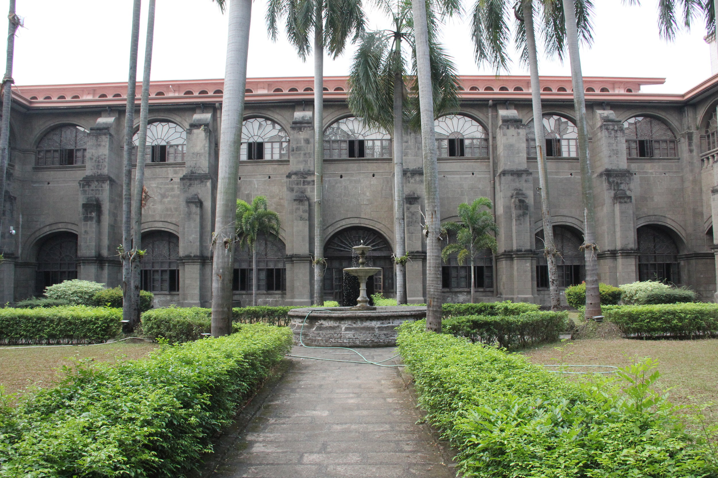 Interior Courtyard of San Augustin Church