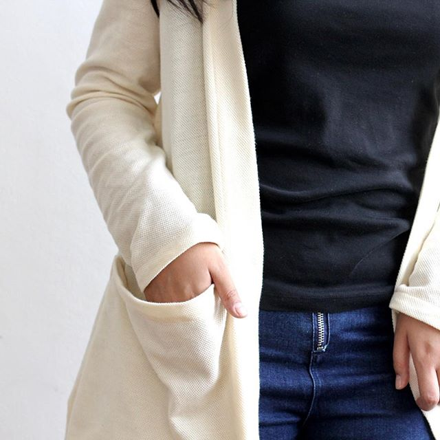 Another sneak peek from @telastoryinc! 100% Philippine cotton open cardigan made from a lovely textured sturdy knit. Big roomy pockets.